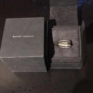 David Yurman ORIGINAL Diamond Crossover Ring!